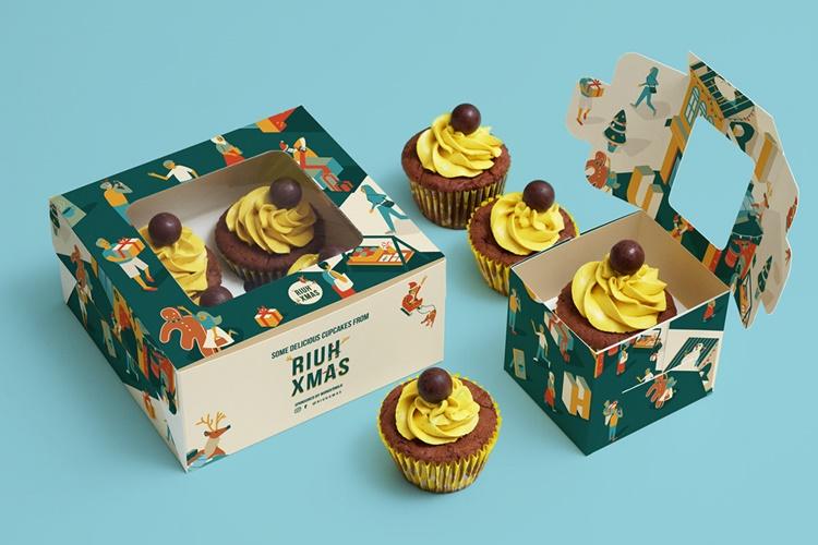 hộp đựng bánh cupcake