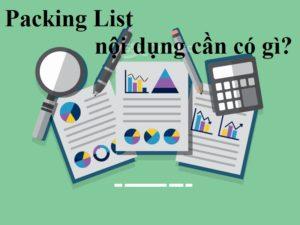 packing list là gì