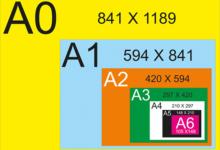 kích thước giấy a4