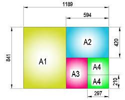 size giấy a3