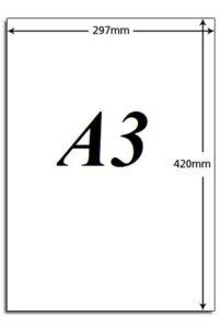 cỡ giấy a3