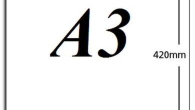 kích thước a3