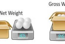 net weight và gross weight