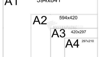 kích thước tờ a4