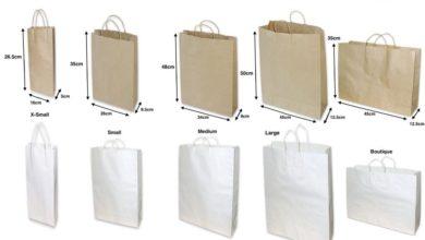 kích thước túi giấy