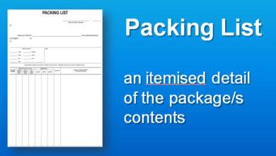 mẫu packing list