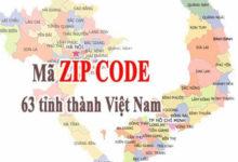 mã zip việt nam