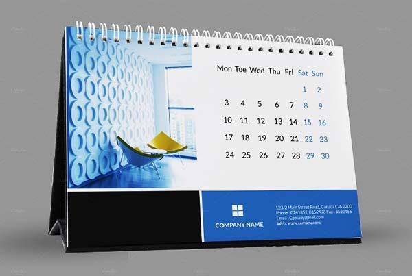 thiết kế lịch để bàn