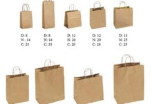 kích thước túi giấy thông dụng