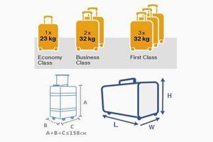 kích thước hành lý ký gửi