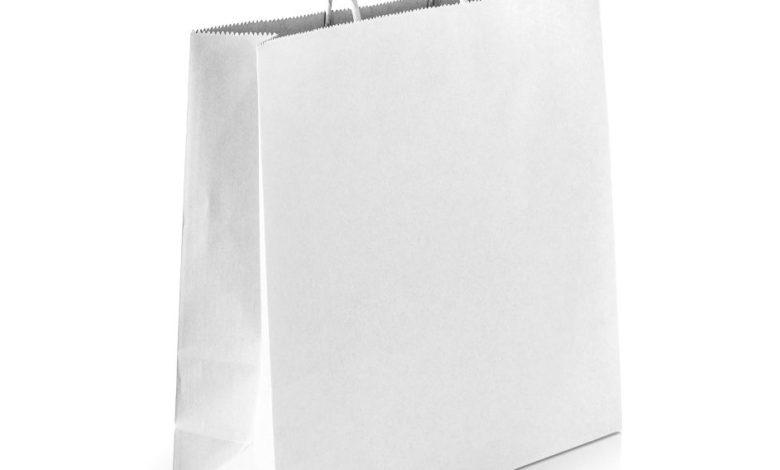 túi giấy trắng