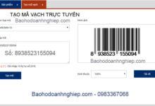 mã vạch online