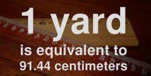 1 yard bằng bao nhiêu mét