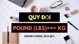lbs sang kg