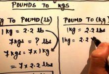 đơn vị lbs sang kg