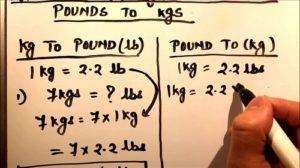 quy đổi lbs sang kg