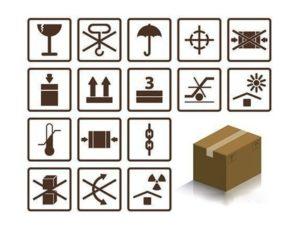 ký hiệu trên thùng carton
