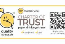 360 ° Foodservice ra mắt Trustmark mới cho ống hút giấy